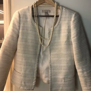 Beautiful cream/gold jacket with leather details